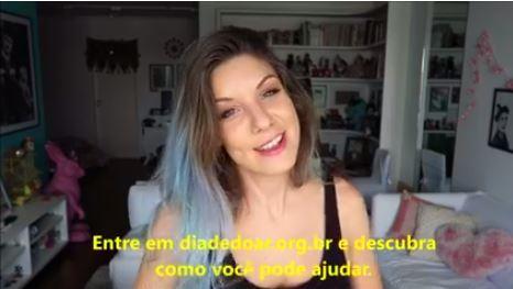MariMoon gravou vídeo em apoio ao #diadedoar